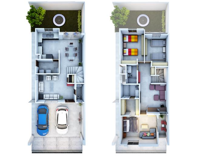 Grandes casas en fraccionamiento en Monterrey